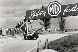 Jack Brabham, Cooper T51-Climax, leads Bruce McLaren, Cooper T45-Climax
