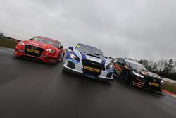 Ollie Jackson, AmD Tuning Audi S3, Jason Plato, Team BMR Subaru Levorg ve Dan Cammish, Team Dynamics Honda Civic