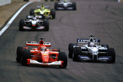 Michael Schumacher, Ferrari F1 2001; Juan Pablo Montoya, BMW Williams FW23