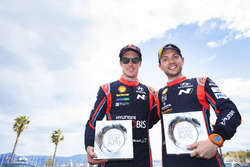 Podium: third place Thierry Neuville, Nicolas Gilsoul, Hyundai Motorsport Hyundai i20 Coupe WRC