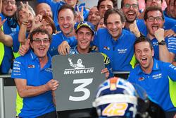 Il terzo classificato Alex Rins, Team Suzuki MotoGP, Davide Brivio