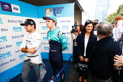 Nelson Piquet Jr., Jaguar Racing, Oliver Turvey, NIO Formula E Team. Virginia Elena Raggi, Mayor of Rome, Jean Todt, FIA President, in the media pen