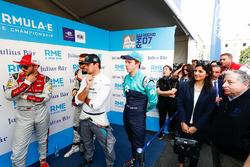 Daniel Abt, Audi Sport ABT Schaeffler, Nelson Piquet Jr., Jaguar Racing, Oliver Turvey, NIO Formula E Team. Virginia Elena Raggi, Mayor of Rome, Jean Todt, FIA President, in the media pen