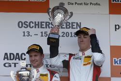 Podium: Race winners #5 Phoenix Racing Audi R8 LMS: Philip Ellis, Max Hofer