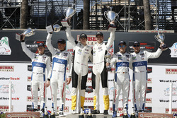 GTLM podium: Ryan Briscoe, Richard Westbrook, Chip Ganassi Racing, winners Oliver Gavin, Tommy Milner, Corvette Racing, third place Dirk Müller, Joey Hand, Chip Ganassi Racing Ford