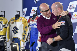 Carmelo Ezpeleta, CEO of Dorna Sports, Randy Mamola