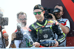 Podium: second place Jonathan Rea, Kawasaki Racing