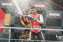 Sur le podium : le troisième, Raffaele De Rosa, MV Agusta Reparto Corse by Vamag