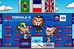 El podio del ePrix de París 2018 de Fórmula E, por MinEDrivers