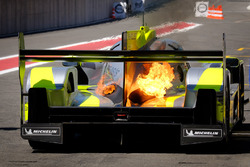 #4 ByKolles Racing Team Enso CLM P1/01: Oliver Webb, Dominik Kraihamer, Tom Dilmann, in fire