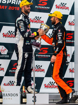 Podium: second place Scott Pye, Walkinshaw Andretti United Holden, third place Shane van Gisbergen, Triple Eight Race Engineering Holden
