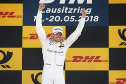 Podium: Race winner Edoardo Mortara, Mercedes-AMG Team HWA