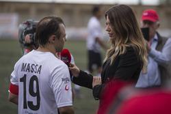 Felipe Massa, talks with Federica Masolin, Sky Italia Presenter