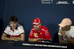Charles Leclerc, Sauber, Sebastian Vettel, Ferrari and Lewis Hamilton, Mercedes-AMG F1 in the Press Conference