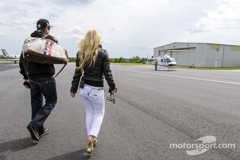 Kurt Busch And Girlfriend Patricia Driscoll Arrive At