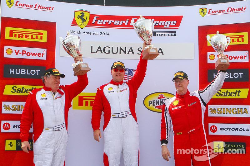 CS podium: race winner Chris Ruud, second place Jim Weiland, third place John Baker