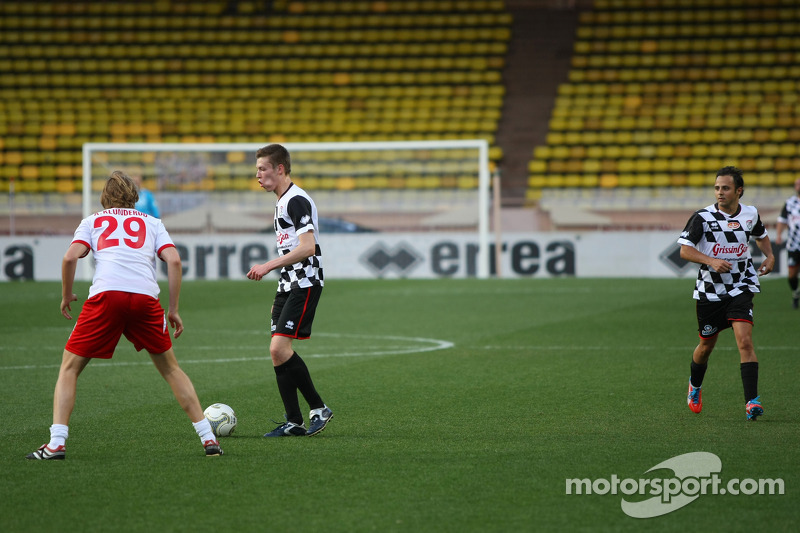 Daniil Kvyat, Scuderia Toro Rosso at the charity football match