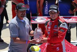 Race winner Gabby Chaves celebrates