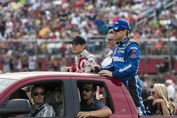 Kyle Larson and Carl Edwards