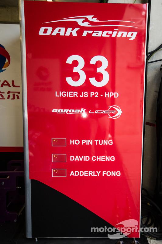 #33 OAK Racing - Team Asia: área do pit