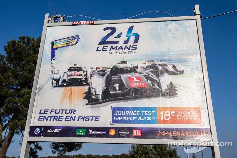 Insegna per la 24 Ore di Le Mans 2014