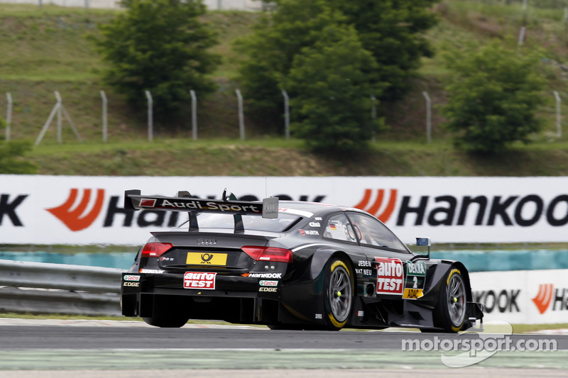 Timo Scheider, Audi Sport Team Phoenix Audi RS 5 DTM con un alettone posteriore rotto