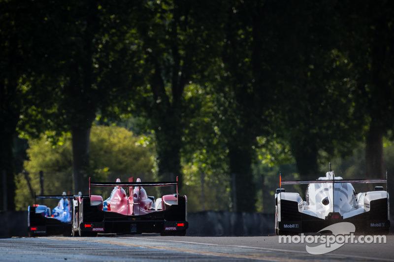 #27 SMP Racing Oreca 03 - Nissan: Sergey Zlobin, Mika Salo, Anton Ladygin, #2 Audi Sport Team Joest Audi R18 E-Tron Quattro: Marcel Fässler, Andre Lotterer, Benoit Tréluyer