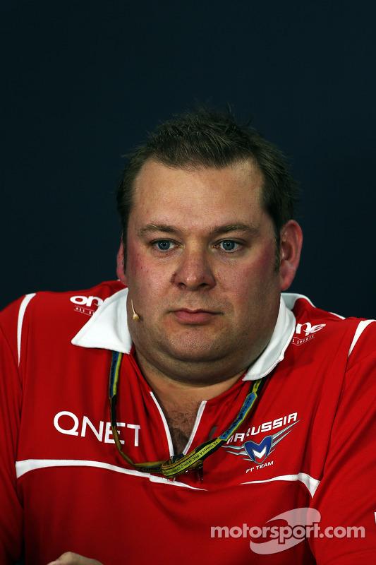 FIA-Pressekonferenz: Dave Greenwod, Marussia F1 Team, Renningenieur