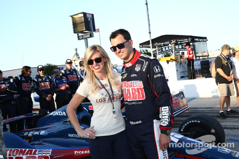 Graham Rahal ve kız arkadaşı Courtney Force