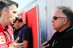 Claudio Albertini, Ferrari Head of Customer Teams Power Unit Operations with Gene Haas, Haas Automotion President