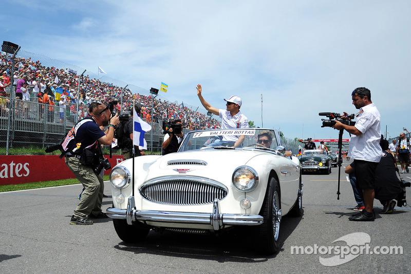 Valtteri Bottas, Williams alla parata dei piloti