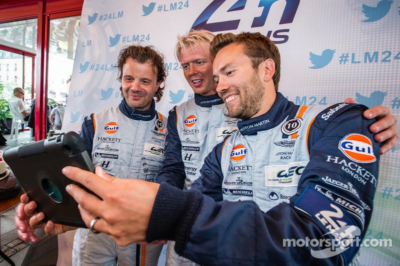 Selfie for Kristian Poulsen, Nicki Thiim and David Heinemeier Hansson