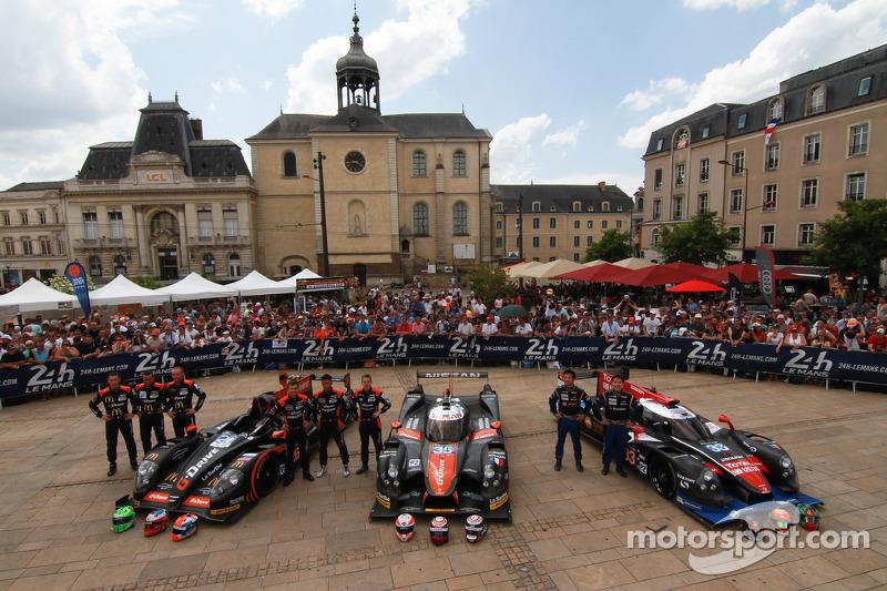 #26 G-Drive Racing 摩根 - 日产: 罗曼·鲁斯诺夫, 奥利弗·普拉, 朱利安·卡纳尔, #35 OAK Racing Ligier - 日产: 阿历克斯·布伦德尔, 詹恩·马登堡, 马克·舒尔茨斯基, #33 OAK Racing - 亚洲 Ligier JS P2 - HPD: 程飞, 董荷斌, 方骏宇