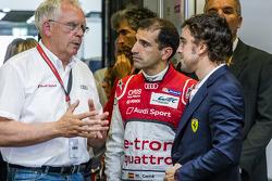 Volkswagen Group Audi chefe técnico Dr. Ulrich Hackenberg, Marc Gene e Fernando Alonso