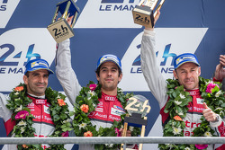 LMP1-H podium: second place Lucas Di Grassi, Marc Gene, Tom Kristensen