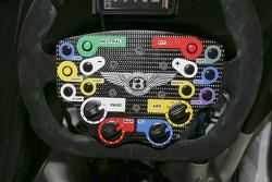 Steering wheel of the Bentley Continental GT3