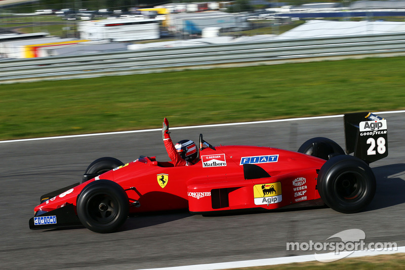 Gerhard Berger ve Ferrari F1/87