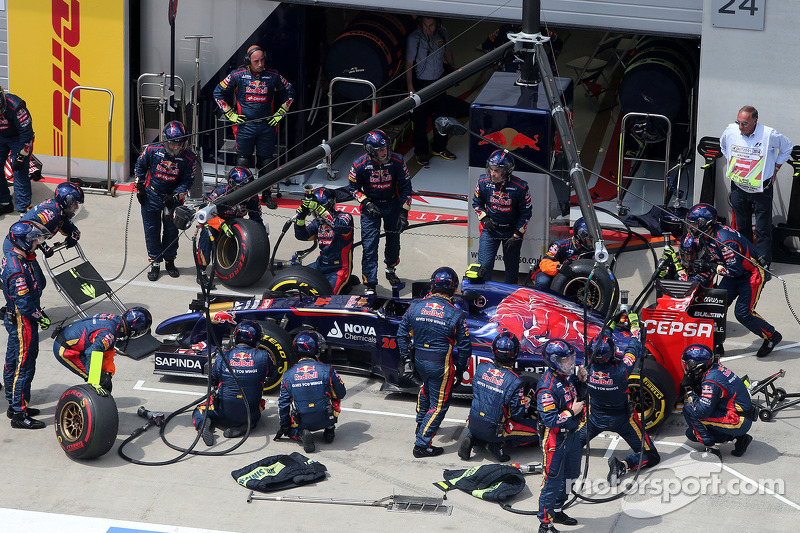 Boxenstopp: Daniil Kvyat, Scuderia Toro Rosso