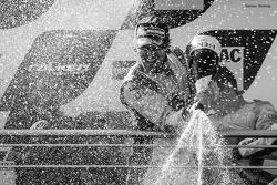 Podium: champagne for Markus Winkelhock