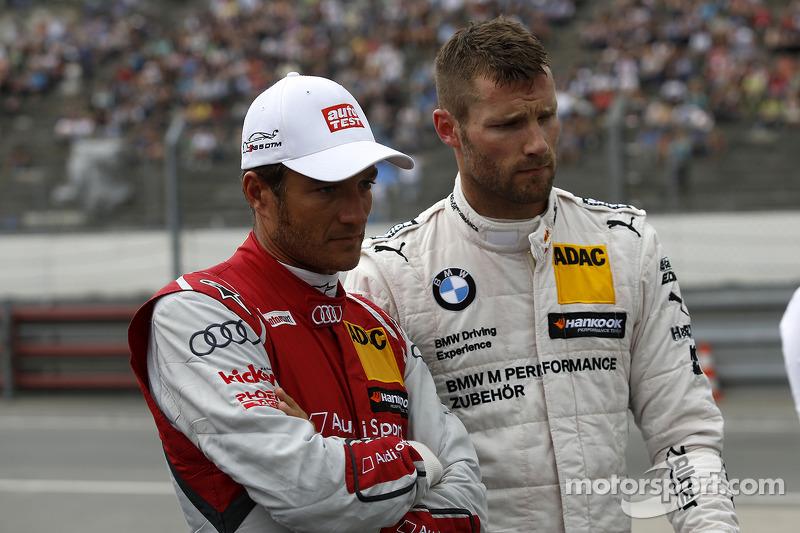Timo Scheider, Audi Sport Team Phoenix Audi RS 5 DTM e Martin Tomczyk, BMW Team Schnitzer BMW M4 DTM