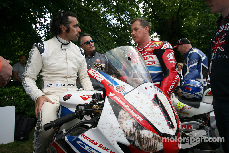 Dario Franchitti ve John McGuinness
