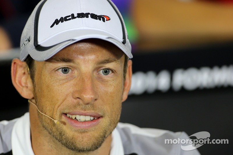 Jenson Button, McLaren F1 Team durante la conferenza stampa