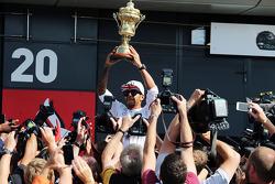 Race winner Lewis Hamilton, Mercedes AMG F1 celebrates after the race