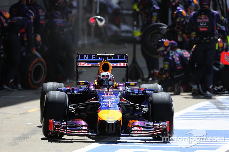 Daniel Ricciardo, Red Bull Racing pitstop esnasında