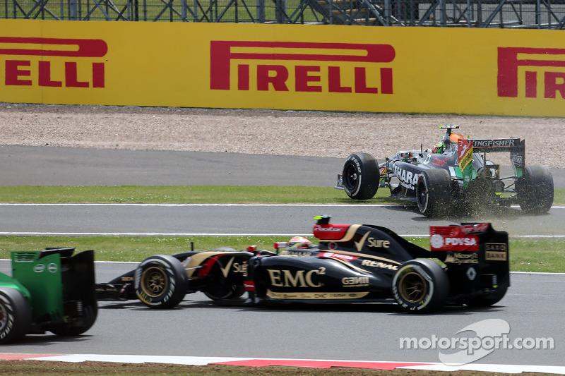 Partenza della gara, Sergio Perez, Sahara Force India
