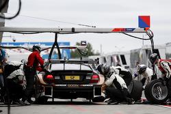 Boxstopp, Pascal Wehrlein, Mercedes AMG DTM-Team HWA, DTM Mercedes AMG C-Coupe
