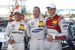 排位赛:第二名 Bruno Spengler, 宝马车队 Schnitzer 宝马 M4 DTM, 第一名Maxime Martin, 宝马车队 RMG 宝马 M4 DTM, 第三名 尼克·穆勒, 罗