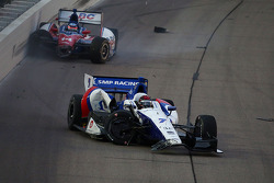 Mikhail Aleshin and Takuma Sato involved in a crash