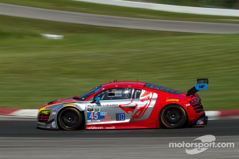 #45 Flying Lizard Motorsports 奥迪 R8 LMS: 尼尔森·卡纳切, 斯潘瑟·庞佩利, 迪翁·冯莫尔特克