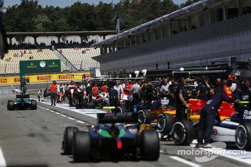 La pitlane GP2